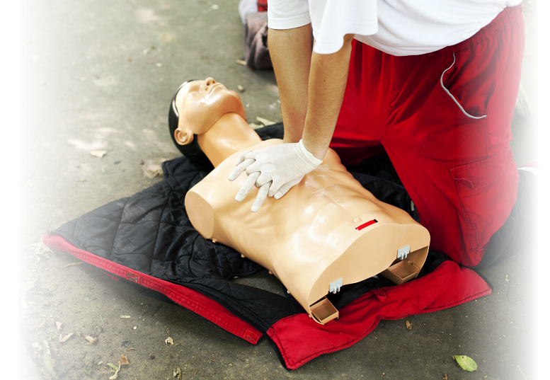 CPR with dummy